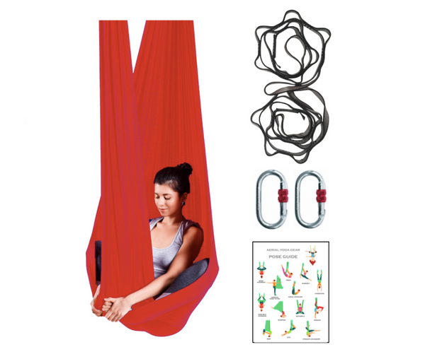 Aerial Yoga Hammock Set with Rigging Equipment - Aerial Yoga Gear