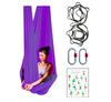 Dark Purple Aerial Yoga Hammock Set with Rigging Equipment - Aerial Yoga Gear Uplift Active
