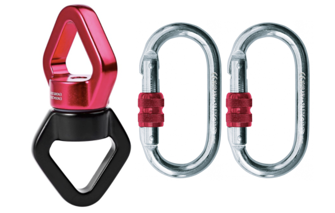 Swivel & Carabiner Aerial Spinning Hardware Kit - Aerial Yoga Gear - Uplift Active