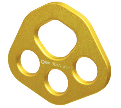 30KN Gold Aluminum Bear Paw Rigging Plate - Aerial Yoga Gear Uplift Active