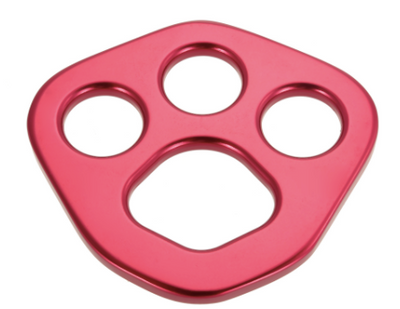 30KN Red Aluminum Bear Paw Rigging Plate - Aerial Yoga Gear Uplift Active