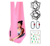 Light Pink Aerial Yoga Hammock Set with Rigging Equipment - Aerial Yoga Gear Uplift Active