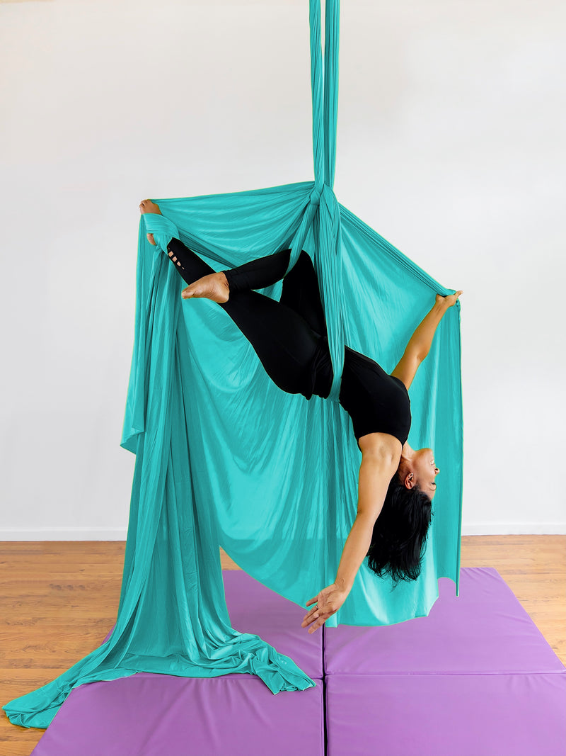 Aquamarine Aerial Fabric