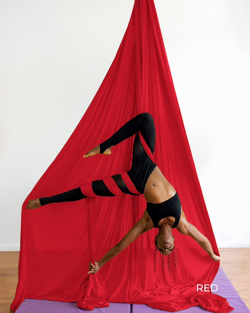 Red Aerial Silk