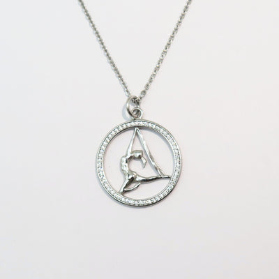 Aerial Yoga Sterling Silver Aerialist Pendant Necklace Uplift Active