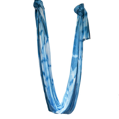 Uplift Active Extended Sizes Yoga Hammock + Rigging Equipment - Blue Tie Dye