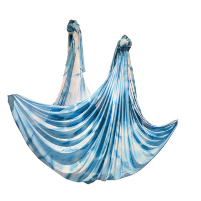 Uplift Active Ombre Aerial Silks Set with All Hardware - Blue Tie Dye
