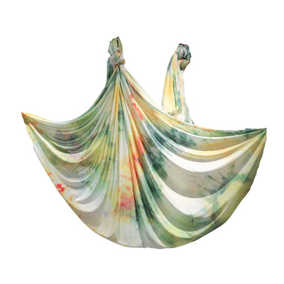 Uplift Active Ombre Aerial Silks Set with All Hardware - Botanical Print