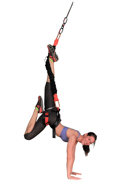 Uplift Active Fly Bungee Fitness Set with Rigging Harness Handstand