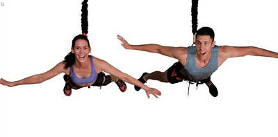 Bungee Fitness Flying Pushup Couple by Uplift Active