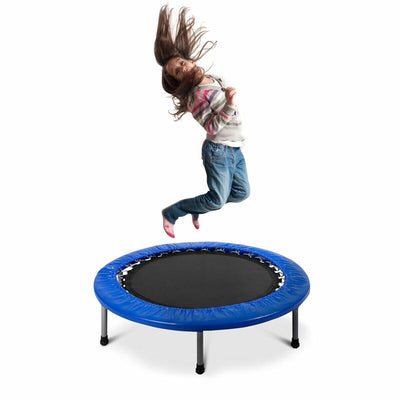 Girl Jumping Best Exercise Trampoline with Padding and Springs - 38""