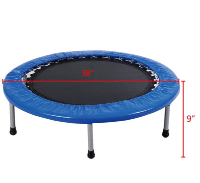 "Uplift Active Exercise Trampoline with Padding and Springs - 38"" Size"