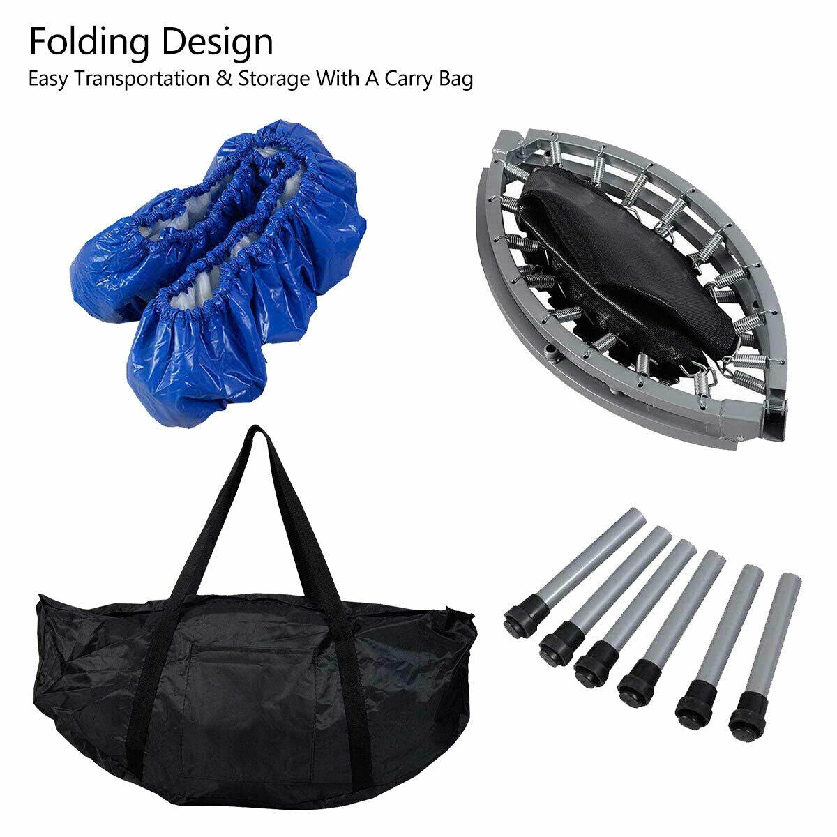 Foldable 38 Quot Rebounder Trampoline With Carrying Bag