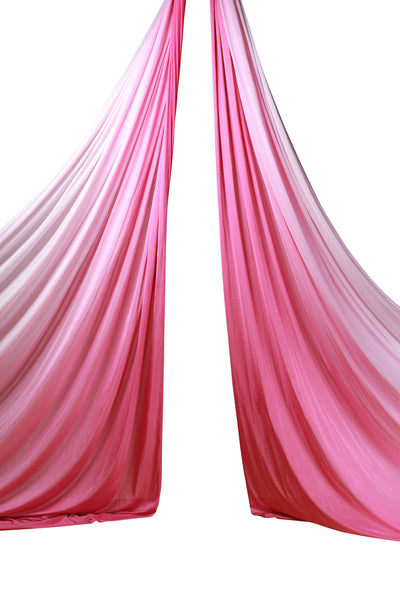 Pink Ombre Aerial Silks Set with All Hardware - Uplift Active