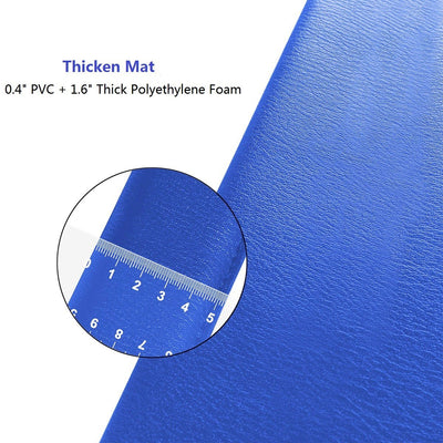 2 Inches High Quality Blue Foldable Pole Dance Yoga Exercise Safety Cushion Mat - Uplift Active