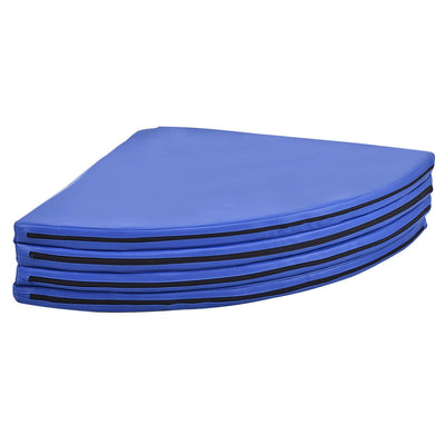 Easy Storage Blue Foldable Pole Dance Yoga Exercise Safety Cushion Mat - Uplift Active