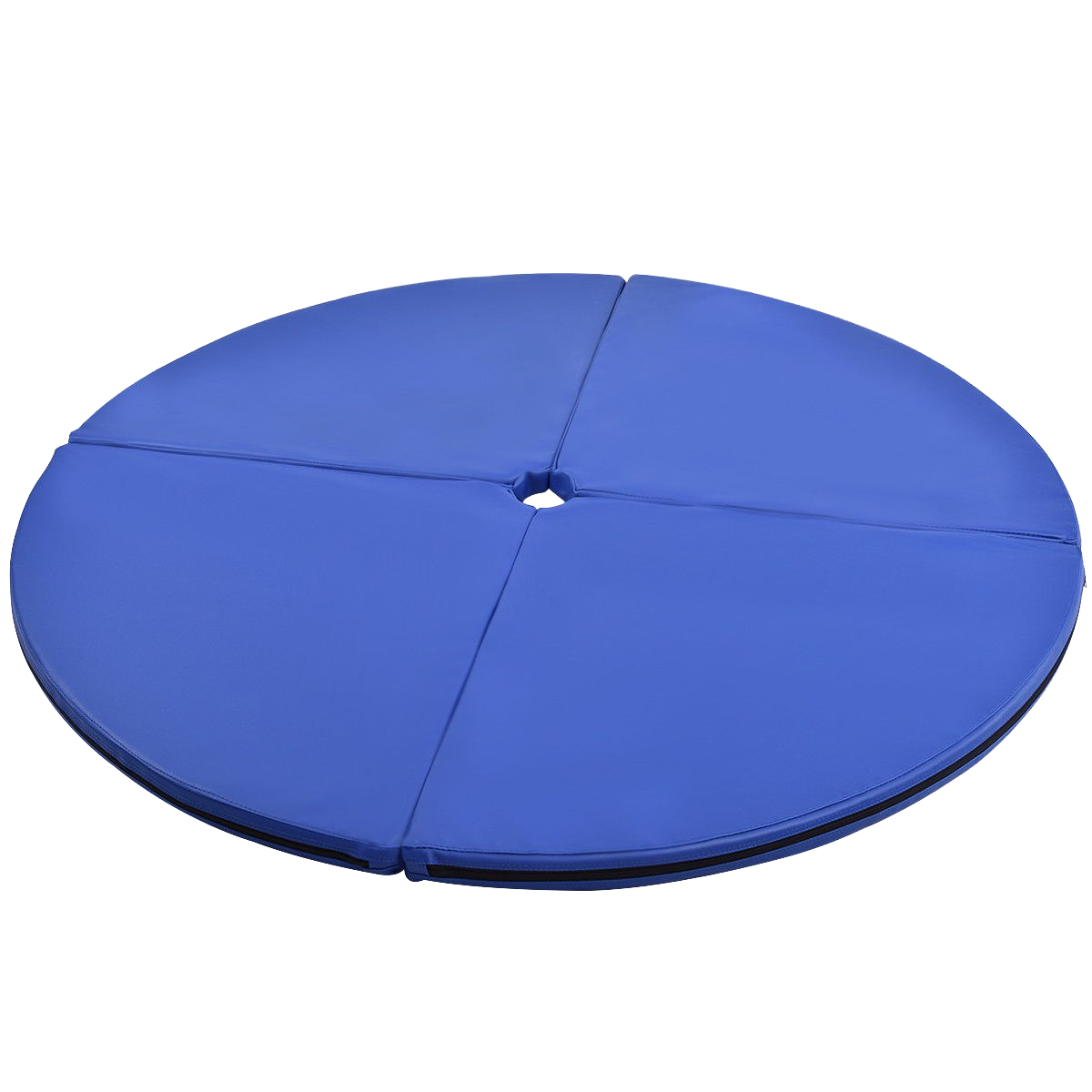 Blue Foldable Pole Dance Yoga Exercise Safety Cushion Mat Uplift Active