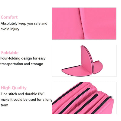 High Quality Pink Foldable Pole Dance Yoga Exercise Safety Cushion Mat - Uplift Active
