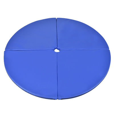 Overview Blue Foldable Pole Dance Yoga Exercise Safety Cushion Mat Uplift Active