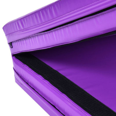 Detail Purple Folding Two Panel Gymnastics Mat - Aerial Yoga Gear - Uplift Active