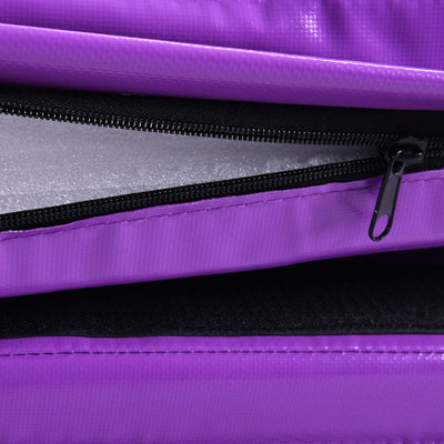 Zip Detail Purple Folding Two Panel Gymnastics Mat - Aerial Yoga Gear