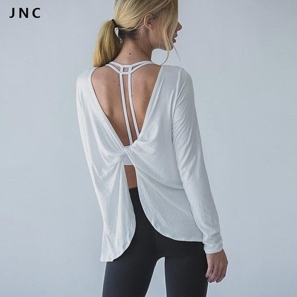 Open Back Drape Top