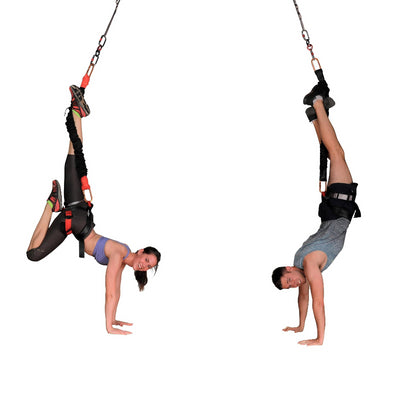 Man & Woman on Bungee Fitness Equipment Set Uplift Active
