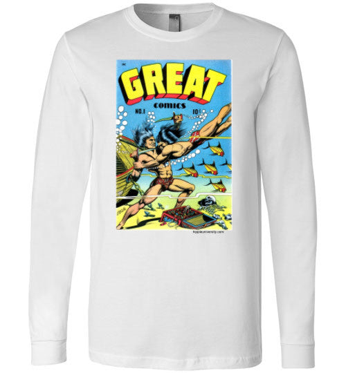 Great Comics Cover Art By L.B. Cole Long Sleeve T-Shirt