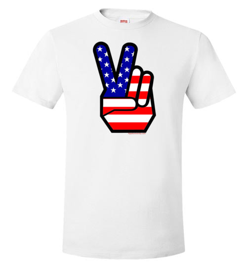 American Peace Hand Sign Value T-Shirt