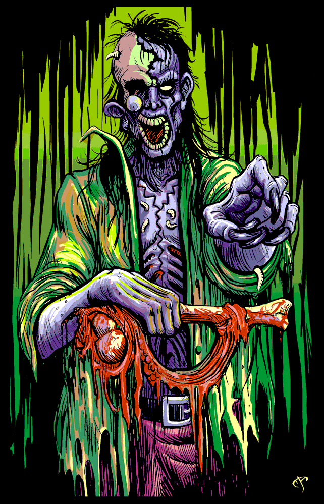 Black Light Zombie Poster