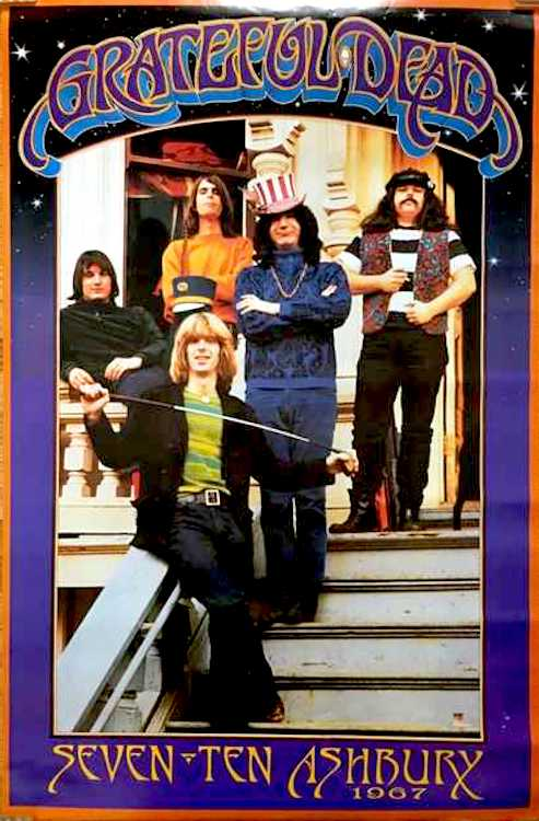 "Grateful Dead - 710 Ashbury Poster 24"" x 36"""