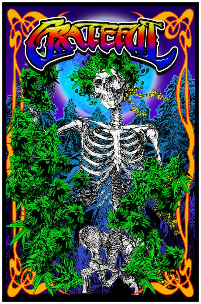 "Grateful Dead Blacklight Poster 23"" x 35"""