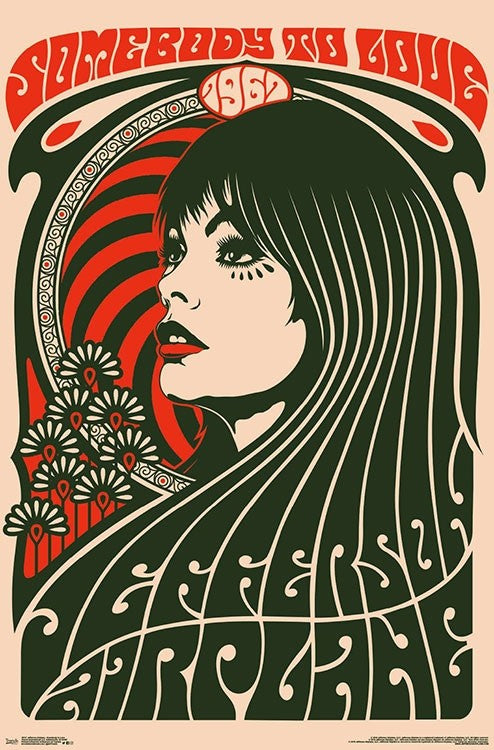 "Jefferson Airplane Concert Poster 24"" x 36"""