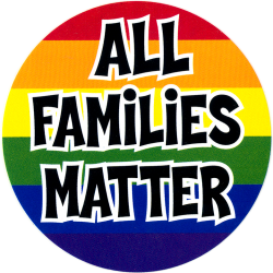 "All Families Matter - Bumper Sticker / Decal (4.75"" X 4.75"")"
