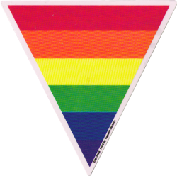 "Triangle Rainbow - Window Sticker (5"" X 6"")"