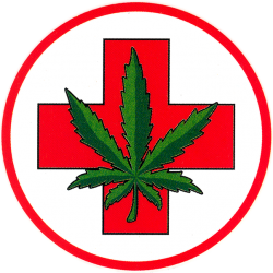 "Medical Marijuana - Window Sticker 4"" x 4"""