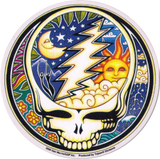"Night and Day Steal Your Face - Grateful Dead - Window Sticker / Decal (5"" Circular)"