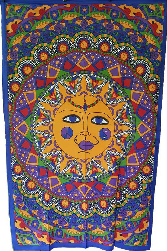 "Multi Color Sun Tapestry 54"" x 86"""
