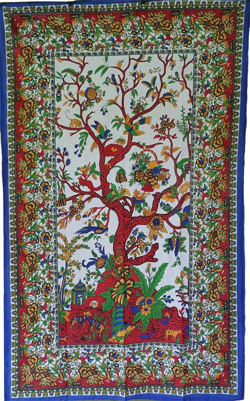 "Tree of Life Color Tapestry 54"" x 86"""