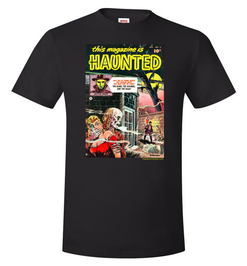 Haunted Magazine Cover Value T-Shirt