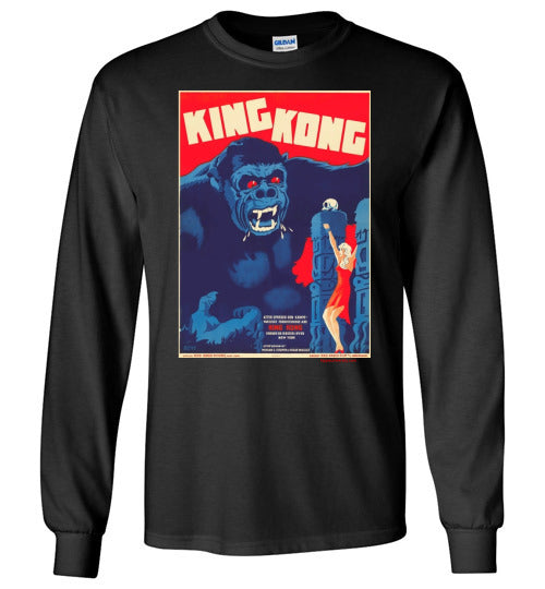 King Kong Danish Poster long Sleeve T-Shirt
