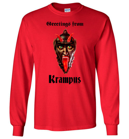 Greetings from Krampus Long Sleeve T-Shirt
