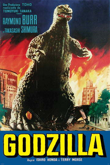 Godzilla Movie Poster- Blue Version