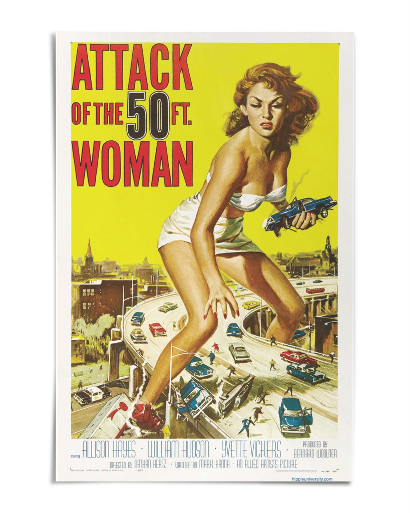 "Attack of the 50 ft. Woman 24"" x 36"" Movie Poster"