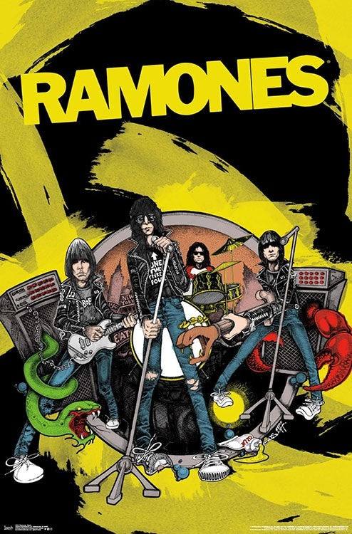 "The Ramones Animated Poster 24"" x 36"""