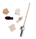 Wooden Fishing Pole Set