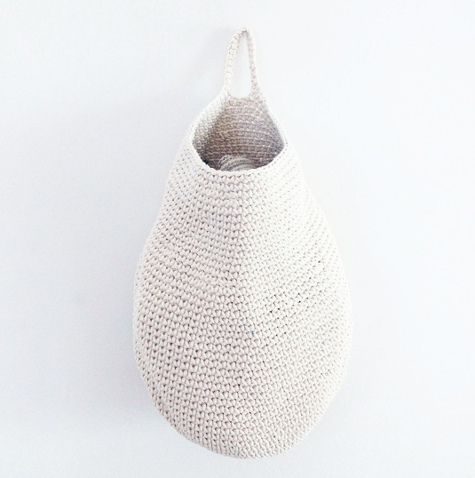 White Crocheted Basket