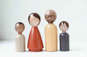 Organic Family II Wooden Peg Dolls