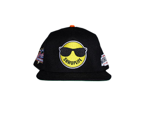 SHMOPLIFE  SNAPBACK (BLACK/ORANGE)