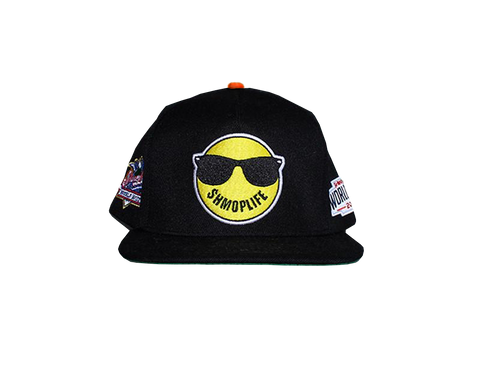 SHMOPLIFE  SNAPBACK (BLACK/ORANGE)  HATS - SHMOPLIFE GEAR